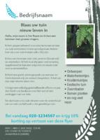 Tuin Onderhoud A6 flyers door Templatecloud