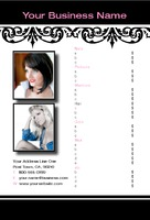 "Hair 4"" x 6"" Flyers by Aaura  Design"