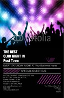 """Clubs 5.5"""" x 8.5"""" Flyers by Rebecca Doherty"""