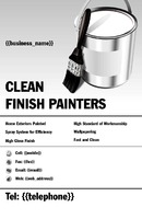 "Painters and Decorators 5.5"" x 8.5"" Flyers by Neil Watson"