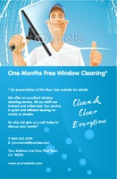 "Window Cleaning 5.5"" x 8.5"" Flyers by Edward Augusto"