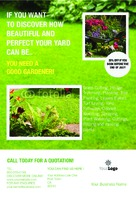 "Lawn Maintenance 4"" x 6"" Flyers by C V"