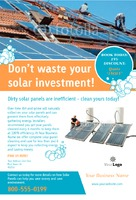 "Solar Panels 4"" x 6"" Flyers by C V"