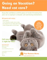 "Pet Care 8.5"" x 11"" Flyers by Templatecloud"