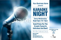 "Karaoke 5.5"" x 8.5"" Flyers by Templatecloud"