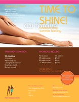 "Tanning Salon 8.5"" x 11"" Flyers by C V"