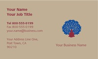 "Massage 2"" x 3.5"" Business Cards by C V"