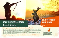 """Hunting 5.5"""" x 8.5"""" Flyers by Ro Do"""