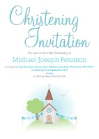 "Church 5.5"" x 8.5"" Invitations by Templatecloud"