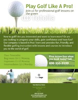 "Golf 8.5"" x 11"" Flyers by Paul Bullock"