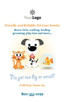 "Pet Care 5.5"" x 8.5"" Flyers by Templatecloud"