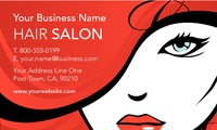 "Hair 2"" x 3.5"" Business Cards by Templatecloud"