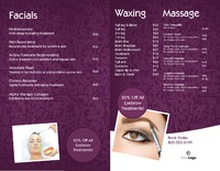 "Massage 8.5"" x 11"" Brochures by TemplateCloud.com"
