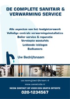 Loodgieters A5 flyers door Templatecloud
