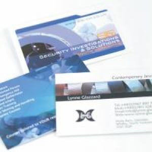 Gloss UV Business Cards with UV on Front