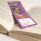 16PT silk cover + ultra-soft finish both sides + UV on one side Fabu-Gloss Bookmarks with UV on Front