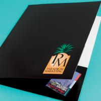 Budget Folded & Glued Presentation Folders