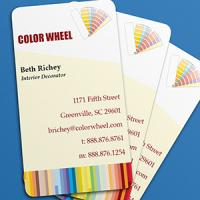 Business Card Punched Fabu-Gloss 2 sided UV
