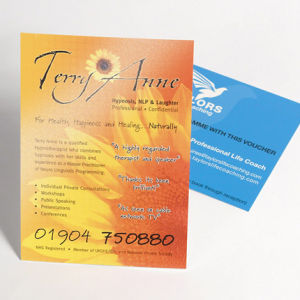 Gloss UV Flyers with UV on Front
